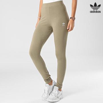 https://laboutiqueofficielle-res.cloudinary.com/image/upload/v1627646526/Desc/Watermark/3adidas_orginal.svg Adidas Originals - Legging Femme H06623 Vert Kaki