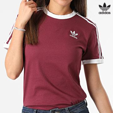 https://laboutiqueofficielle-res.cloudinary.com/image/upload/v1627646526/Desc/Watermark/3adidas_orginal.svg Adidas Originals - Tee Shirt Femme 3 Stripes H06774 Prune