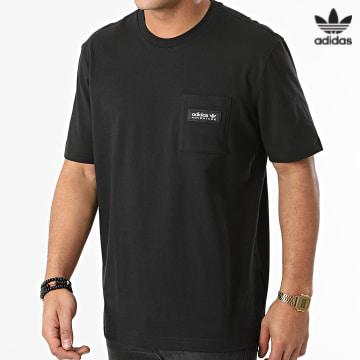 https://laboutiqueofficielle-res.cloudinary.com/image/upload/v1627646526/Desc/Watermark/3adidas_orginal.svg Adidas Originals - Tee Shirt Poche H09091 Noir