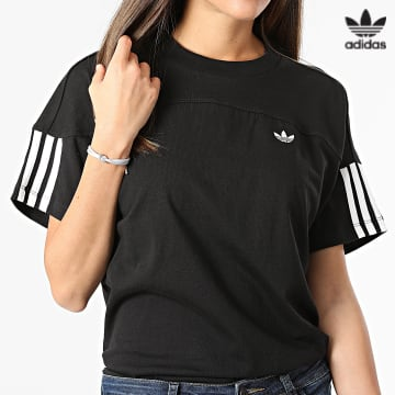 https://laboutiqueofficielle-res.cloudinary.com/image/upload/v1627646526/Desc/Watermark/3adidas_orginal.svg Adidas Originals - Tee Shirt Femme Loose H18057 Noir