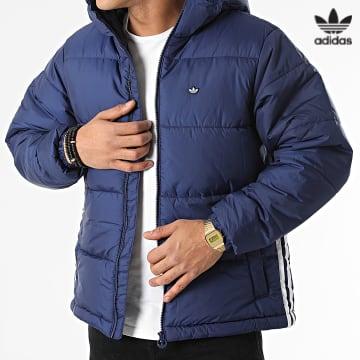 https://laboutiqueofficielle-res.cloudinary.com/image/upload/v1627646526/Desc/Watermark/3adidas_orginal.svg Adidas Originals - Doudoune Pad Hooded H13554 Bleu Marine