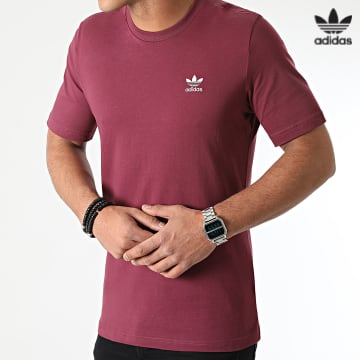 https://laboutiqueofficielle-res.cloudinary.com/image/upload/v1627646526/Desc/Watermark/3adidas_orginal.svg Adidas Originals - Tee Shirt Essential H34635 Bordeaux