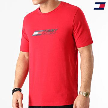 https://laboutiqueofficielle-res.cloudinary.com/image/upload/v1627646949/Desc/Watermark/10logo_tommy_sport.svg Tommy Sport - Tee Shirt Logo 7282 Rouge