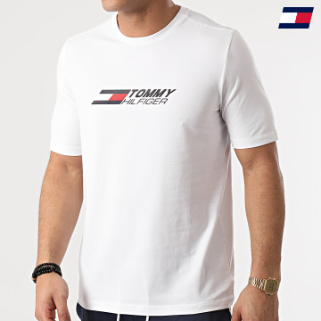 https://laboutiqueofficielle-res.cloudinary.com/image/upload/v1627646949/Desc/Watermark/10logo_tommy_sport.svg Tommy Sport - Tee Shirt Logo 7282 Blanc