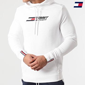 https://laboutiqueofficielle-res.cloudinary.com/image/upload/v1627646949/Desc/Watermark/10logo_tommy_sport.svg Tommy Sport - Sweat Capuche Terry Logo 8458 Blanc