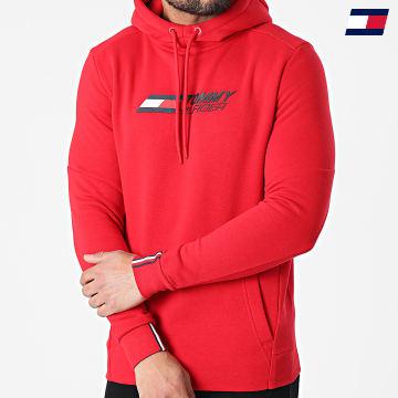 https://laboutiqueofficielle-res.cloudinary.com/image/upload/v1627646949/Desc/Watermark/10logo_tommy_sport.svg Tommy Sport - Sweat Capuche Logo Fleece 7255 Rouge
