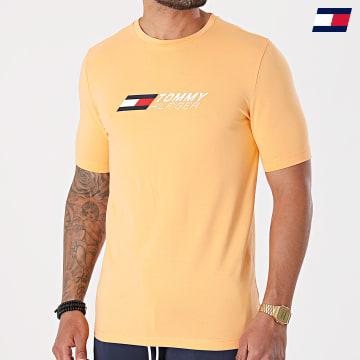https://laboutiqueofficielle-res.cloudinary.com/image/upload/v1627646949/Desc/Watermark/10logo_tommy_sport.svg Tommy Sport - Tee Shirt Logo 7282 Orange