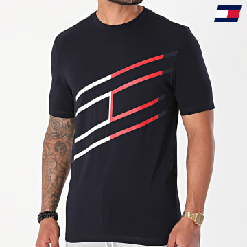 https://laboutiqueofficielle-res.cloudinary.com/image/upload/v1627646949/Desc/Watermark/10logo_tommy_sport.svg Tommy Sport - Tee Shirt Graphic Cotton 8583 Bleu Marine