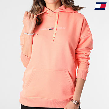 https://laboutiqueofficielle-res.cloudinary.com/image/upload/v1627646949/Desc/Watermark/10logo_tommy_sport.svg Tommy Sport - Sweat Capuche Femme Relaxed Graphic 0980 Saumon
