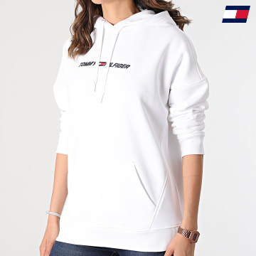 https://laboutiqueofficielle-res.cloudinary.com/image/upload/v1627646949/Desc/Watermark/10logo_tommy_sport.svg Tommy Sport - Sweat Capuche Femme Relaxed Graphic 0980 Ecru