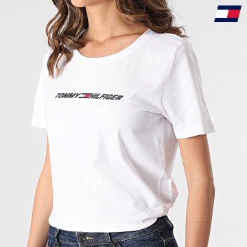 https://laboutiqueofficielle-res.cloudinary.com/image/upload/v1627646949/Desc/Watermark/10logo_tommy_sport.svg Tommy Sport - Tee Shirt Femme Regular Graphic C-nk 1016 Blanc