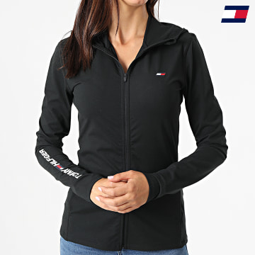 https://laboutiqueofficielle-res.cloudinary.com/image/upload/v1627646949/Desc/Watermark/10logo_tommy_sport.svg Tommy Sport - Veste Zippée Capuche Femme 1157 Noir