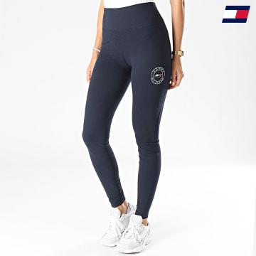https://laboutiqueofficielle-res.cloudinary.com/image/upload/v1627646949/Desc/Watermark/10logo_tommy_sport.svg Tommy Sport - Legging Femme Round Graphic 1092 Bleu Marine