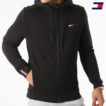 https://laboutiqueofficielle-res.cloudinary.com/image/upload/v1627646949/Desc/Watermark/10logo_tommy_sport.svg Tommy Sport - Sweat Zippé Capuche Logo Fleece 7256 Noir