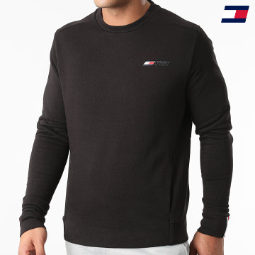 https://laboutiqueofficielle-res.cloudinary.com/image/upload/v1627646949/Desc/Watermark/10logo_tommy_sport.svg Tommy Sport - Sweat Crewneck Logo Fleece 9774 Noir