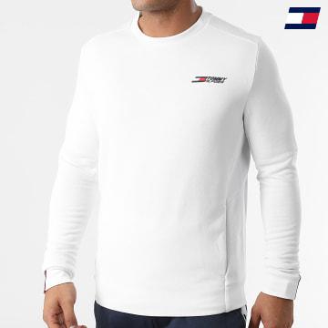 https://laboutiqueofficielle-res.cloudinary.com/image/upload/v1627646949/Desc/Watermark/10logo_tommy_sport.svg Tommy Sport - Sweat Crewneck Logo Fleece 9774 Blanc