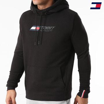 https://laboutiqueofficielle-res.cloudinary.com/image/upload/v1627646949/Desc/Watermark/10logo_tommy_sport.svg Tommy Sport - Sweat Capuche Logo Fleece 9775 Noir