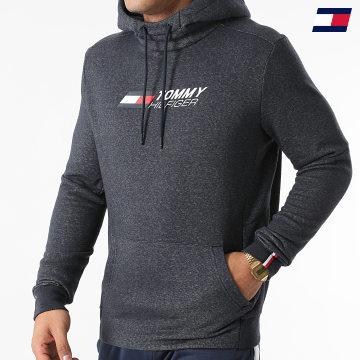 https://laboutiqueofficielle-res.cloudinary.com/image/upload/v1627646949/Desc/Watermark/10logo_tommy_sport.svg Tommy Sport - Sweat Capuche Logo Fleece 9775 Bleu Marine Chiné