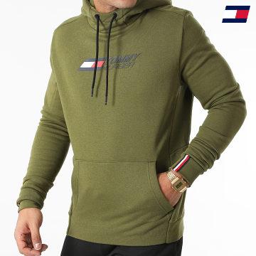 https://laboutiqueofficielle-res.cloudinary.com/image/upload/v1627646949/Desc/Watermark/10logo_tommy_sport.svg Tommy Sport - Sweat Capuche Logo Fleece 9775 Vert Kaki