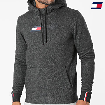https://laboutiqueofficielle-res.cloudinary.com/image/upload/v1627646949/Desc/Watermark/10logo_tommy_sport.svg Tommy Sport - Sweat Capuche Logo Fleece 9775 Gris Anthracite Chiné