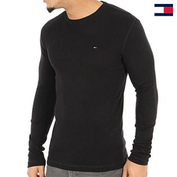 https://laboutiqueofficielle-res.cloudinary.com/image/upload/v1627647047/Desc/Watermark/7logo_tommy_hilfiger.svg Tommy Hilfiger - Tee Shirt Manches Longues Original 4409 Noir