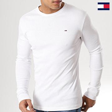 https://laboutiqueofficielle-res.cloudinary.com/image/upload/v1627647047/Desc/Watermark/7logo_tommy_hilfiger.svg Tommy Hilfiger - Tee Shirt Manches Longues Original 4409 Blanc