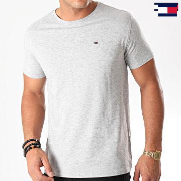 https://laboutiqueofficielle-res.cloudinary.com/image/upload/v1627647047/Desc/Watermark/7logo_tommy_hilfiger.svg Tommy Hilfiger - Tee Shirt Original 4411 Gris Chiné