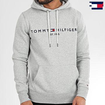 https://laboutiqueofficielle-res.cloudinary.com/image/upload/v1627647047/Desc/Watermark/7logo_tommy_hilfiger.svg Tommy Hilfiger - Sweat Capuche Core Tommy Logo 0752 Gris Chiné