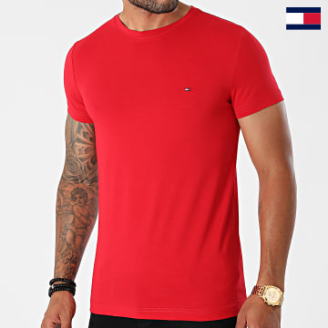 https://laboutiqueofficielle-res.cloudinary.com/image/upload/v1627647047/Desc/Watermark/7logo_tommy_hilfiger.svg Tommy Hilfiger - Tee Shirt MW0MW10800 Rouge