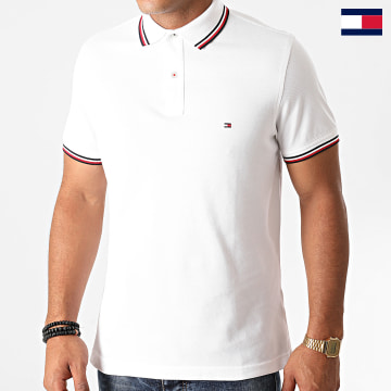 https://laboutiqueofficielle-res.cloudinary.com/image/upload/v1627647047/Desc/Watermark/7logo_tommy_hilfiger.svg Tommy Hilfiger - Polo Manches Courtes Core Tommy Tipped 3080 Blanc