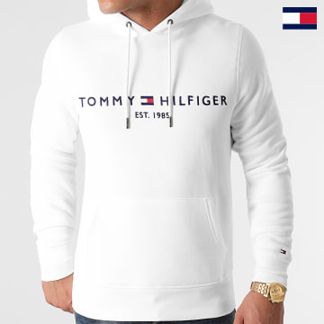 https://laboutiqueofficielle-res.cloudinary.com/image/upload/v1627647047/Desc/Watermark/7logo_tommy_hilfiger.svg Tommy Hilfiger - Sweat Capuche Tommy Logo 1599 Blanc
