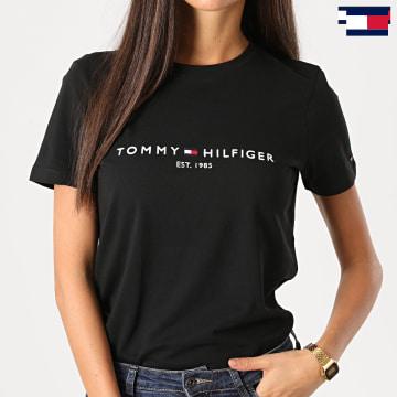 https://laboutiqueofficielle-res.cloudinary.com/image/upload/v1627647047/Desc/Watermark/7logo_tommy_hilfiger.svg Tommy Hilfiger - Tee Shirt Femme Essential 8681 Noir