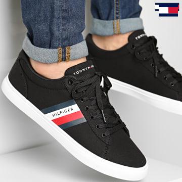 https://laboutiqueofficielle-res.cloudinary.com/image/upload/v1627647047/Desc/Watermark/7logo_tommy_hilfiger.svg Tommy Hilfiger - Baskets Essential Stripes Detail Sneaker 3389 Black