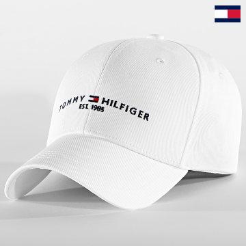 https://laboutiqueofficielle-res.cloudinary.com/image/upload/v1627647047/Desc/Watermark/7logo_tommy_hilfiger.svg Tommy Hilfiger - Casquette Established 7352 Blanc