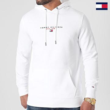 https://laboutiqueofficielle-res.cloudinary.com/image/upload/v1627647047/Desc/Watermark/7logo_tommy_hilfiger.svg Tommy Hilfiger - Sweat Capuche Essential Tommy 7382 Blanc