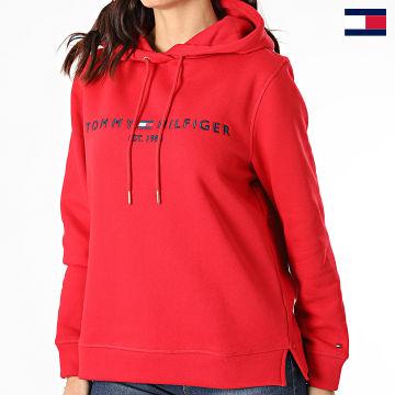 https://laboutiqueofficielle-res.cloudinary.com/image/upload/v1627647047/Desc/Watermark/7logo_tommy_hilfiger.svg Tommy Hilfiger - Sweat Capuche Femme Essential 6410 Rouge