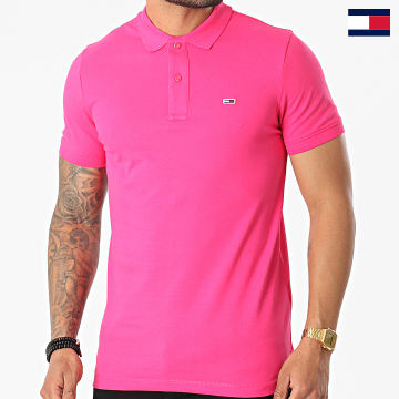 https://laboutiqueofficielle-res.cloudinary.com/image/upload/v1627647047/Desc/Watermark/7logo_tommy_hilfiger.svg Tommy Hilfiger - Polo Manches Courtes Classic Solid Stretch 9439 Rose Fushia