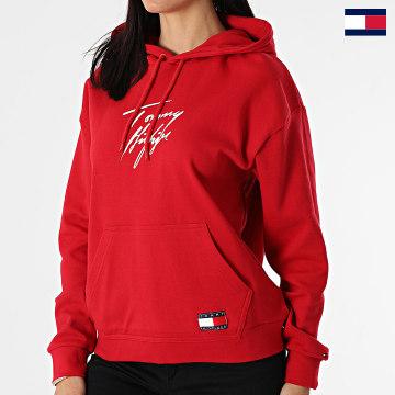 https://laboutiqueofficielle-res.cloudinary.com/image/upload/v1627647047/Desc/Watermark/7logo_tommy_hilfiger.svg Tommy Hilfiger - Sweat Capuche Femme 2300 Rouge