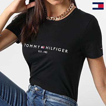 https://laboutiqueofficielle-res.cloudinary.com/image/upload/v1627647047/Desc/Watermark/7logo_tommy_hilfiger.svg Tommy Hilfiger - Tee Shirt Femme Heritage 1999 Noir