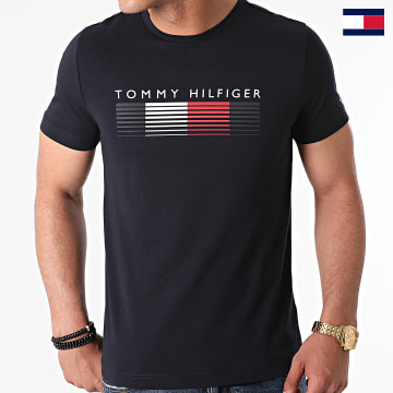 https://laboutiqueofficielle-res.cloudinary.com/image/upload/v1627647047/Desc/Watermark/7logo_tommy_hilfiger.svg Tommy Hilfiger - Tee Shirt Fade Graphic Corp 1008 Bleu Marine