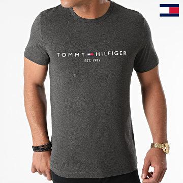 https://laboutiqueofficielle-res.cloudinary.com/image/upload/v1627647047/Desc/Watermark/7logo_tommy_hilfiger.svg Tommy Hilfiger - Tee Shirt Logo 1797 Gris Anthracite Chiné