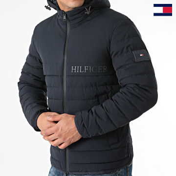 https://laboutiqueofficielle-res.cloudinary.com/image/upload/v1627647047/Desc/Watermark/7logo_tommy_hilfiger.svg Tommy Hilfiger - Veste Zippée Capuche Stretch Hooded 8766 Bleu Marine