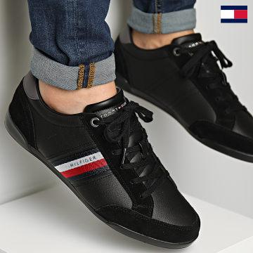 https://laboutiqueofficielle-res.cloudinary.com/image/upload/v1627647047/Desc/Watermark/7logo_tommy_hilfiger.svg Tommy Hilfiger - Baskets Corporate Material Mix Leather 3741 Black