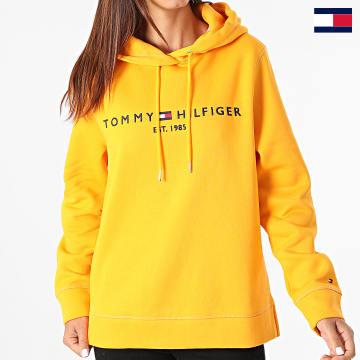 https://laboutiqueofficielle-res.cloudinary.com/image/upload/v1627647047/Desc/Watermark/7logo_tommy_hilfiger.svg Tommy Hilfiger - Sweat Capuche Femme Regular 6410 Orange