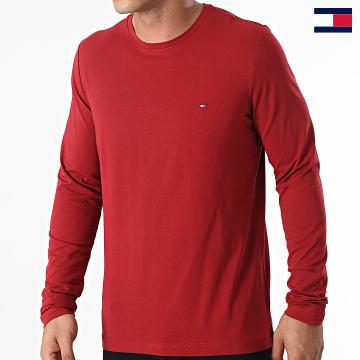 https://laboutiqueofficielle-res.cloudinary.com/image/upload/v1627647047/Desc/Watermark/7logo_tommy_hilfiger.svg Tommy Hilfiger - Tee Shirt Manches Longues Stretch Fit Slim 0804 Rouge Foncé