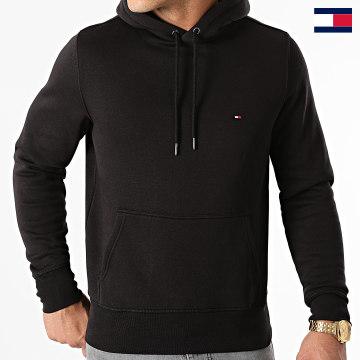 https://laboutiqueofficielle-res.cloudinary.com/image/upload/v1627647047/Desc/Watermark/7logo_tommy_hilfiger.svg Tommy Hilfiger - Sweat Capuche Basic Flag 7022 Noir