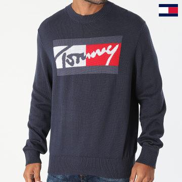 https://laboutiqueofficielle-res.cloudinary.com/image/upload/v1627647047/Desc/Watermark/7logo_tommy_hilfiger.svg Tommy Hilfiger - Pull Branded Sweater 1365 Bleu Marine