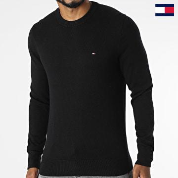 https://laboutiqueofficielle-res.cloudinary.com/image/upload/v1627647047/Desc/Watermark/7logo_tommy_hilfiger.svg Tommy Hilfiger - Pull Pima Cotton Cashmere 1674 Noir