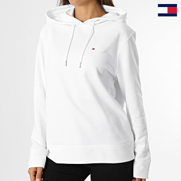 https://laboutiqueofficielle-res.cloudinary.com/image/upload/v1627647047/Desc/Watermark/7logo_tommy_hilfiger.svg Tommy Hilfiger - Sweat Capuche Femme Regular 2206 Blanc