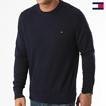 https://laboutiqueofficielle-res.cloudinary.com/image/upload/v1627647047/Desc/Watermark/7logo_tommy_hilfiger.svg Tommy Hilfiger - Pull Pima Cotton Cashmere 1674 Bleu Marine